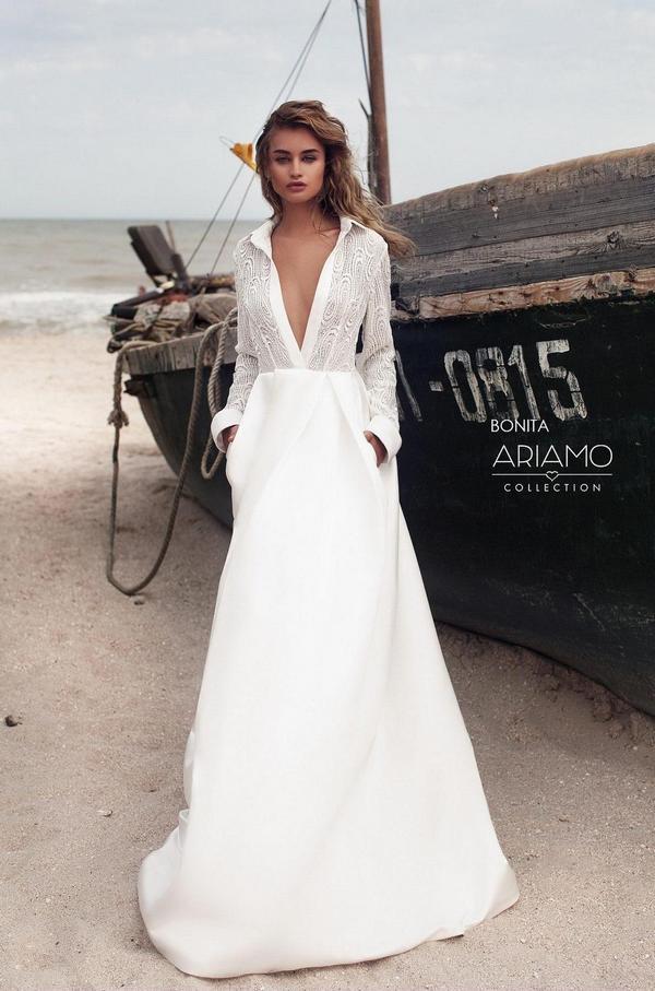 Suknie ślubne długi rękaw