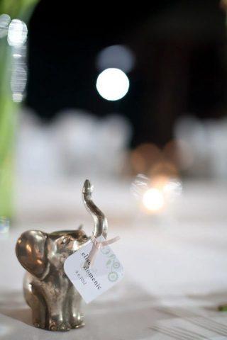 słoniki na szczęście dla gości weselnych