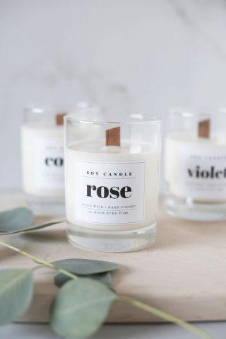 świece zapachowe prezent dla gości weselnych