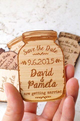 drewienka plastry drewna dla gości weselnych