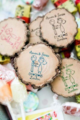 drewniane plastry plastry drewna upominki dla gości weselnych