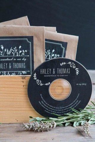 płyta z piosenkami upominek weselny