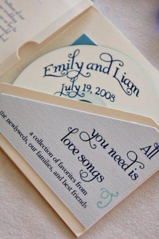 płyta cd na prezent dla gości weselnych
