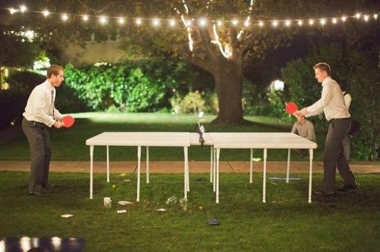 zabawy weselne w plenerze tenis stołowy
