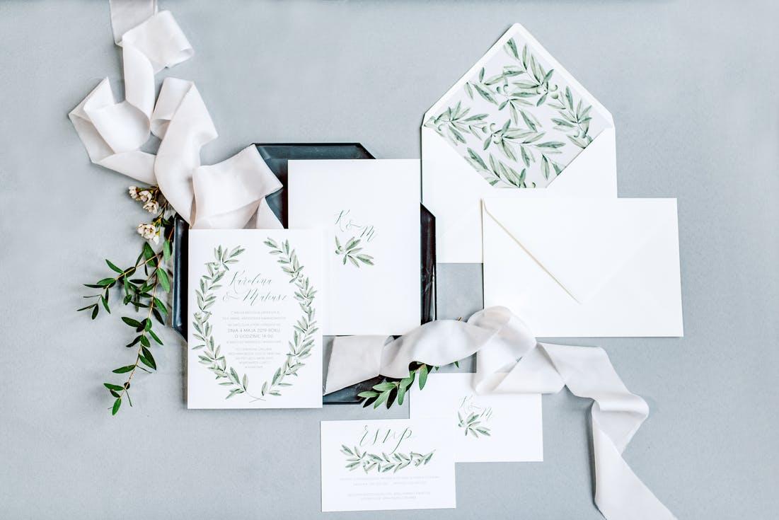 zaproszenia ślubne 2020 greenery