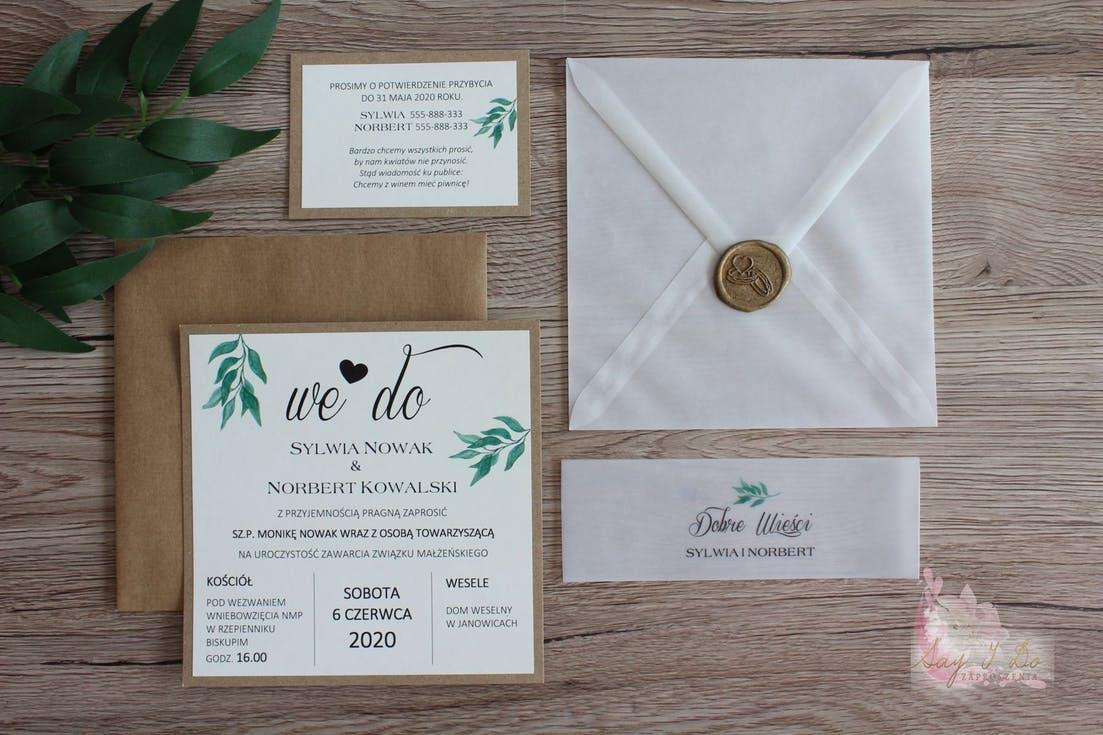 rustyklalne zaproszenia ślubne 2020