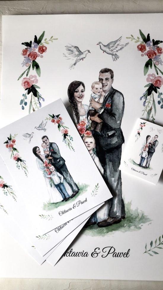 personalizowane zaproszenia ślubne 2020