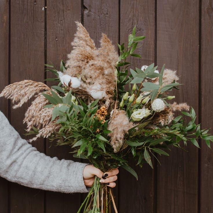 bukiet rustykalny ślub