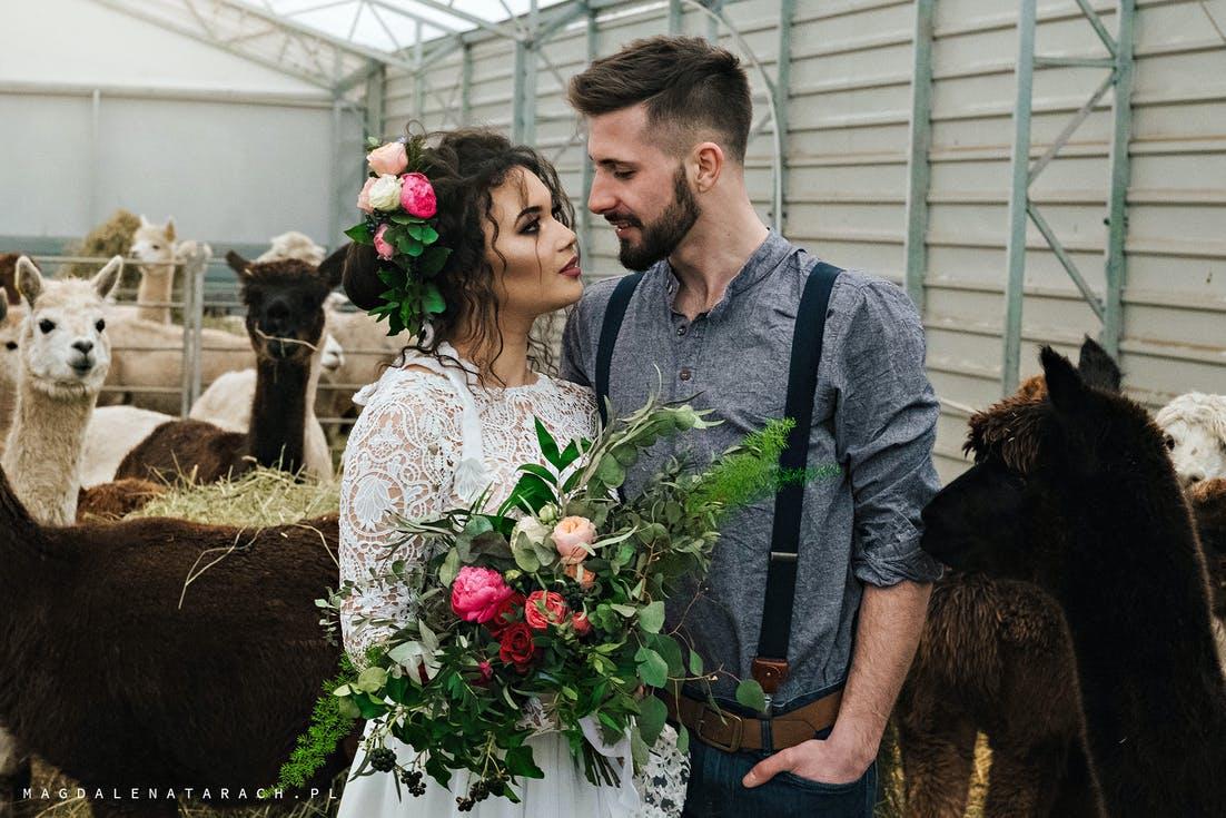 bukiet ślubny dla brunetki