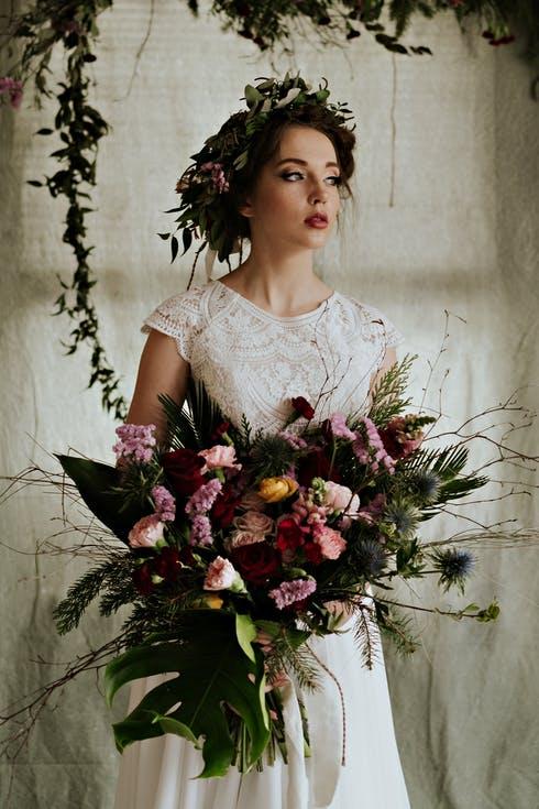 bukiet ślubny polne kwiaty
