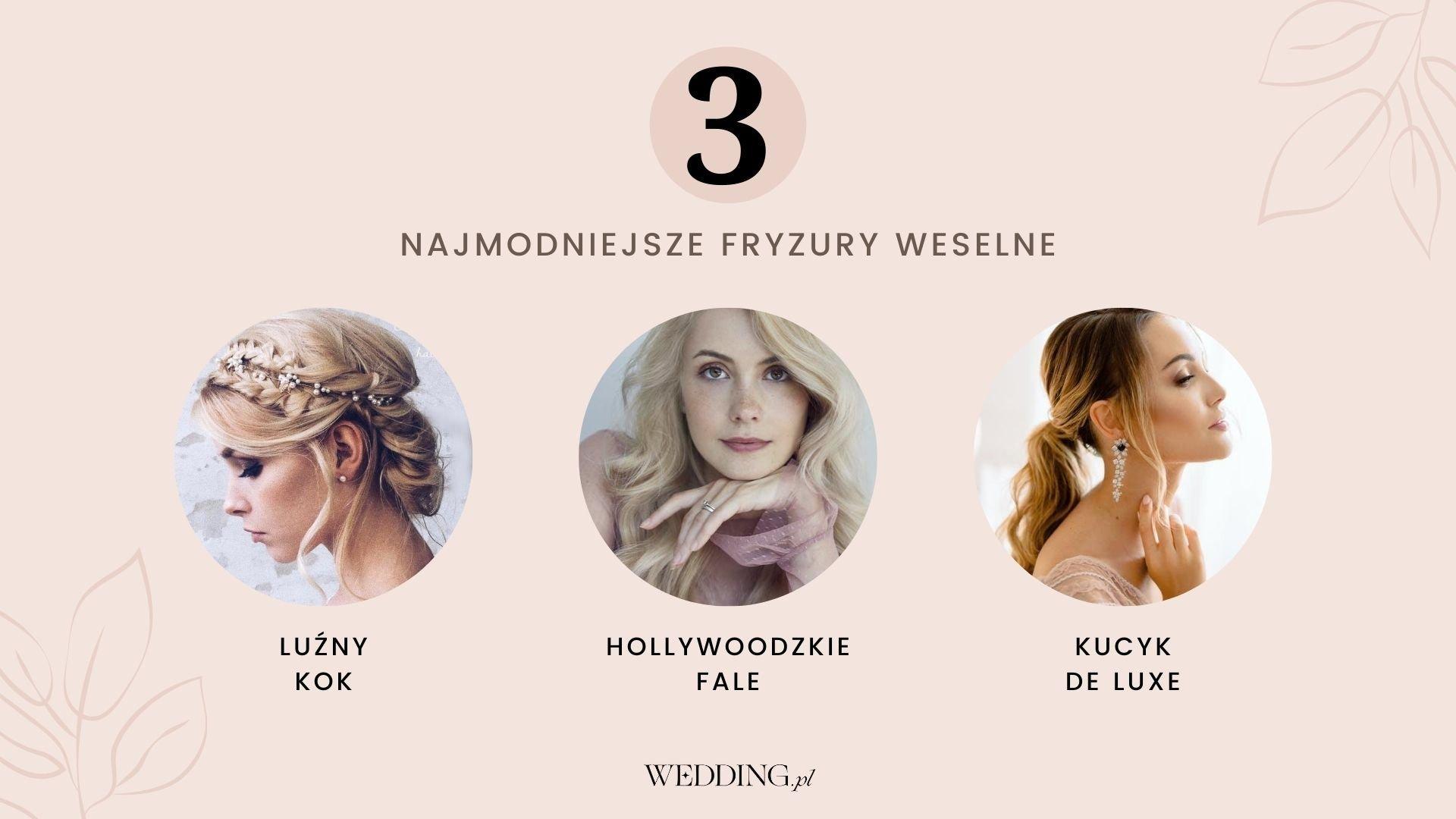 fryzury na wesele - trendy