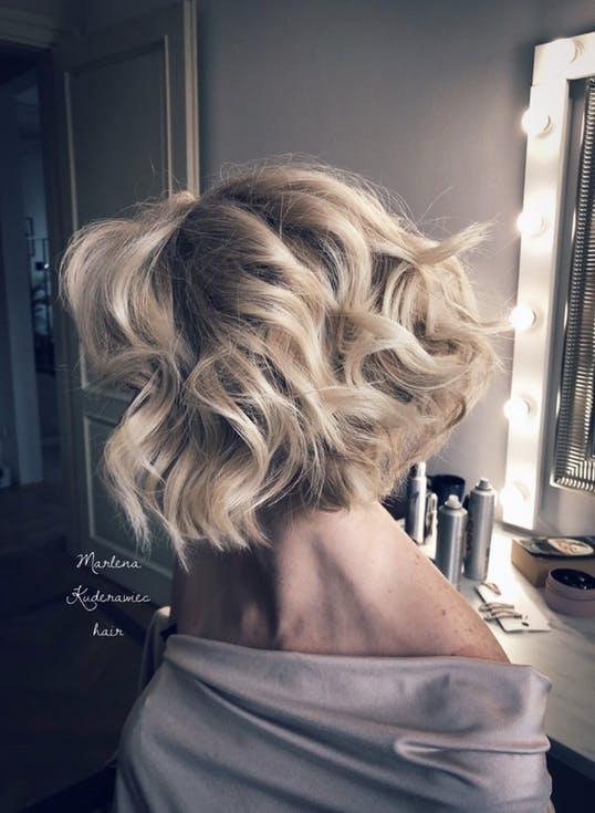 krótkie fryzury weselne