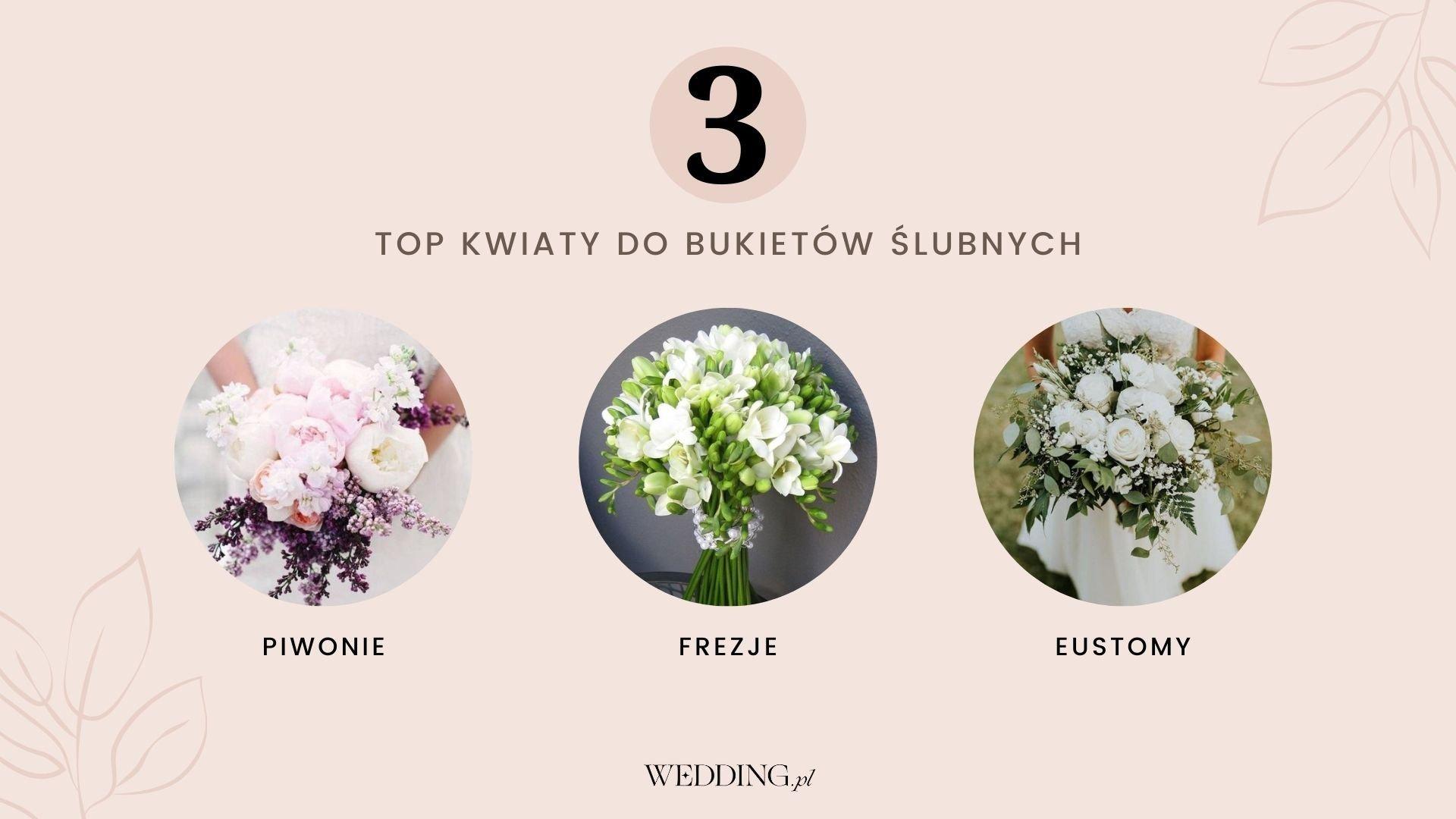 jakie kwiaty do bukietu ślubnego