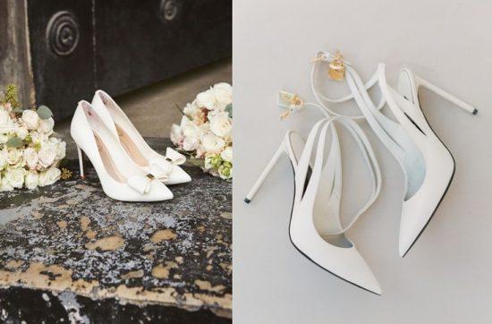 Białe buty ślubne - zdjęcie 4