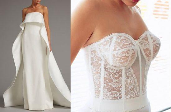 Bielizna ślubna do sukni bez ramiączek - zdjęcie 5