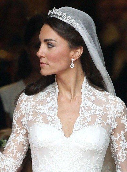 Biżuteria ślubna Kate Middleton