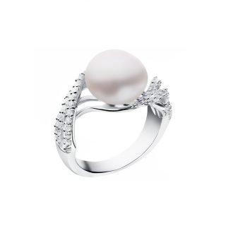 Biżuteria ślubna z perłami - pierścionek z perłą