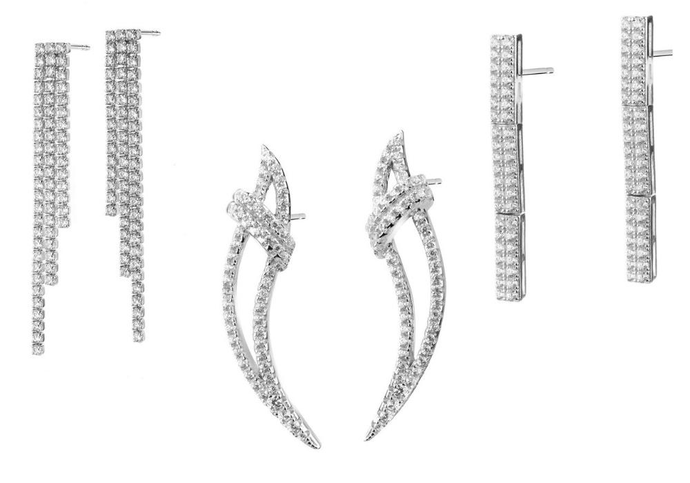 Biżuteria w stylu glamour - kolczyki