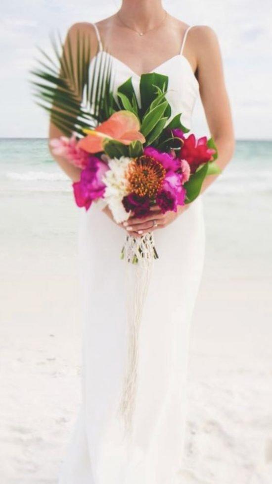 Egzotyczny bukiet ślubny