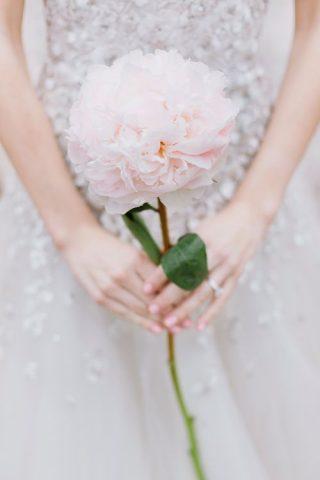 Bukiet ślubny z piwonią