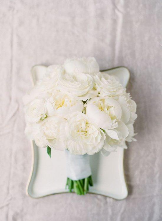Białe piwonie - ślub