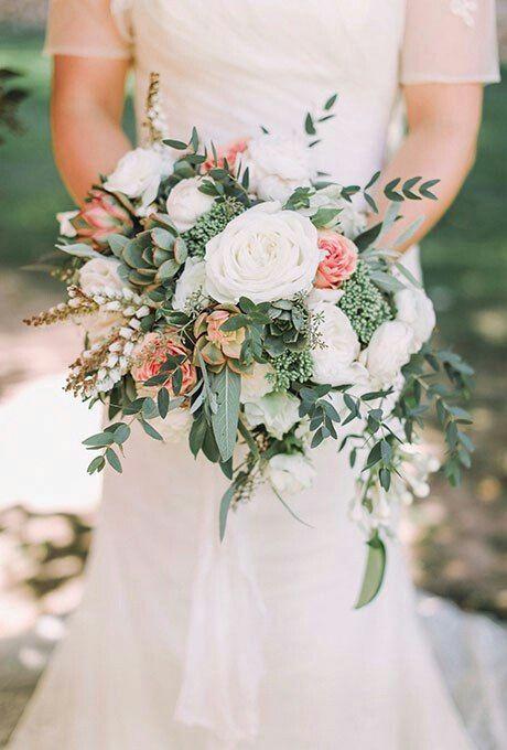 Romantyczny bukiet ślubny