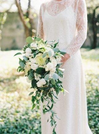 Wiązanka ślubna kaskada