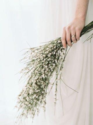 Bukiet ślubny z gałązek