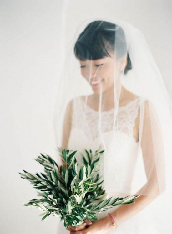 Bukiet ślubny z liści