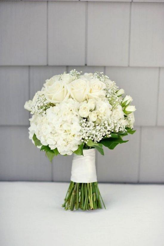 Biała wiązanka ślubna