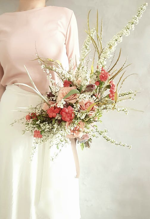 wiosenny bukiet ślubny