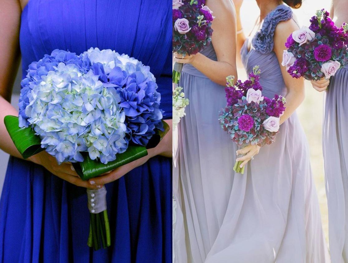 Bukiety ślubne z efektem ombre - zdjęcie 1