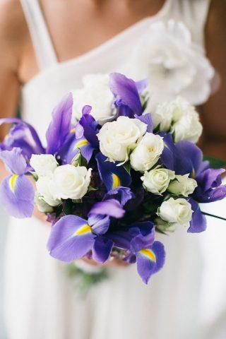 Bukiety ślubne z irysami - zdjęcie 1