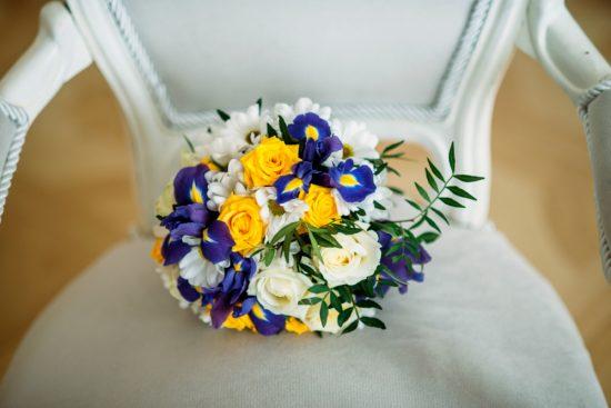 Bukiety ślubne z irysami - zdjęcie 7
