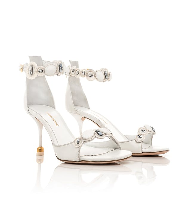 Buty ślubne z perłami