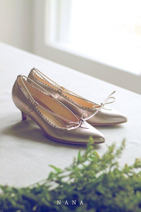 Buty ślubne na niskim obcasie
