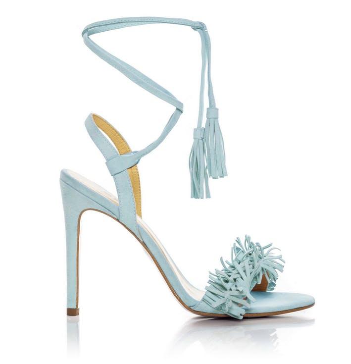 Buty ślubne z frędzlami