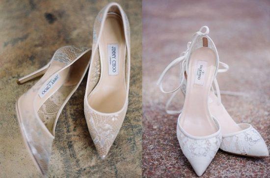 Buty ślubne z koronką - zdjęcie 3