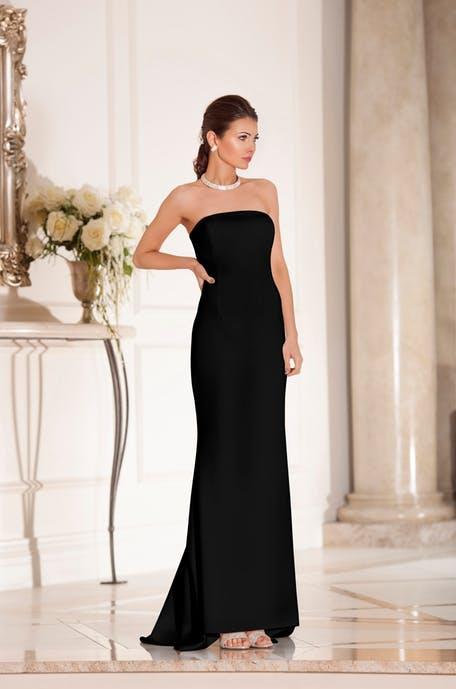 czarna sukienka na wesele 2019 - minimalistyczna