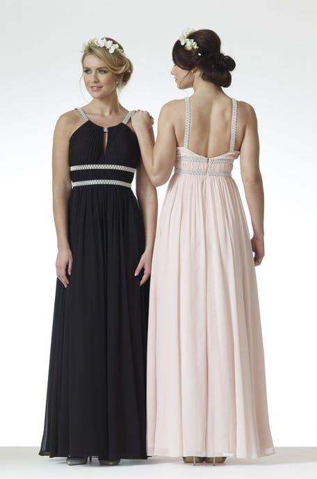 czarna sukienka na wesele 2019 - dla druhny