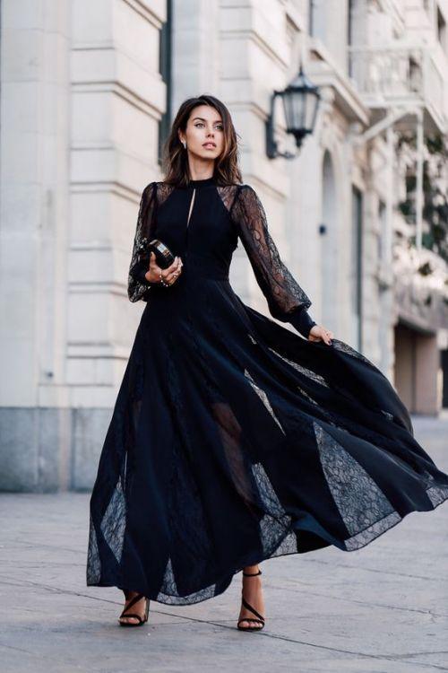 черные платья для свадьбы