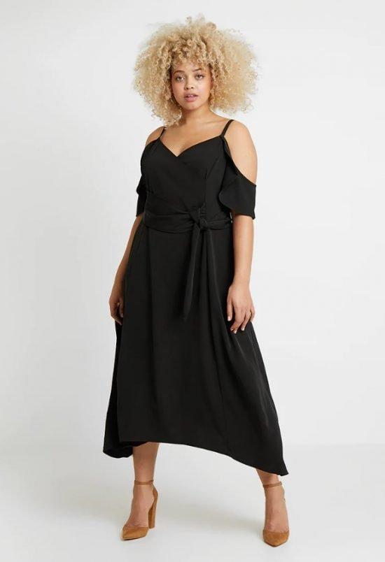 czarna sukienka na wesele plus size - Zalando