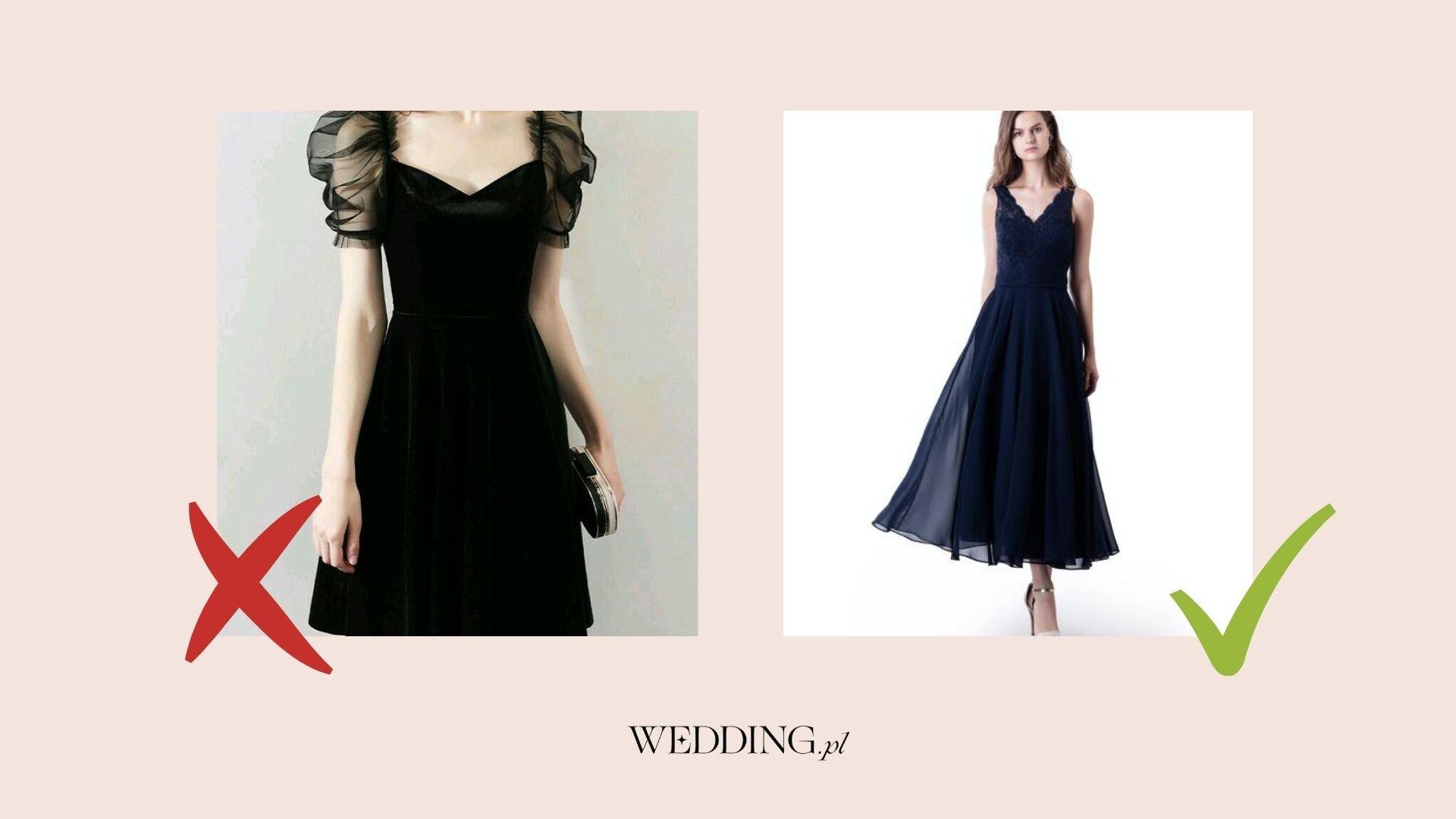 czarna sukienka na wesele czy wypada