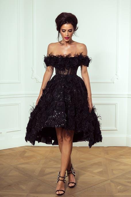 czarna sukienka koktajlowa na wesele