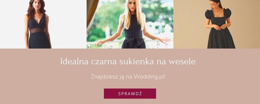 czarna sukienka weselna