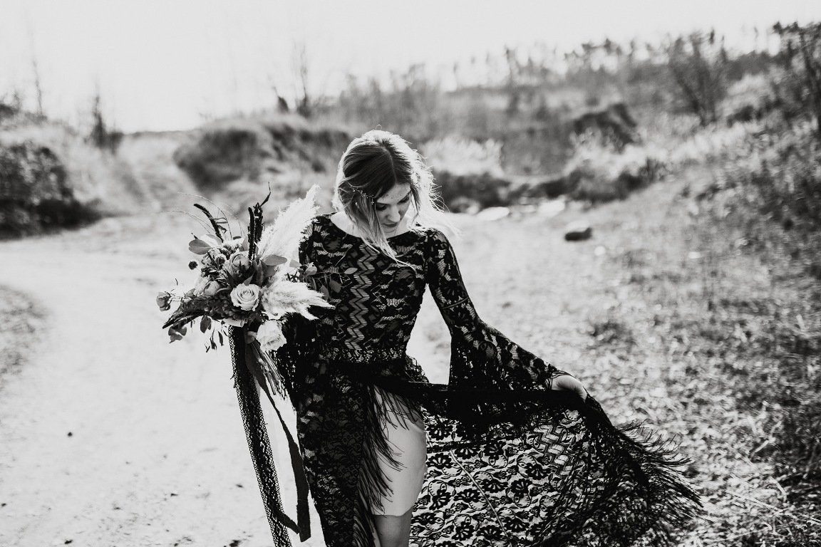 Czarna suknia ślubna Marta Trojanowska