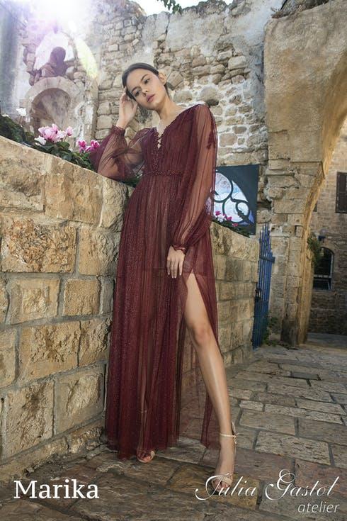 ciemnoczerwona sukienka na wesele