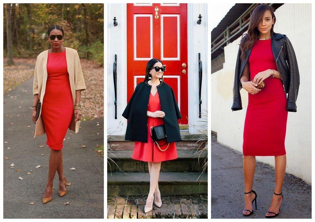 czerwona sukienka na wesele dodatki