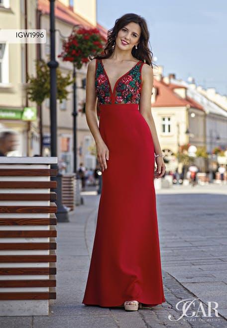 długie sukienki na wesele czerwone