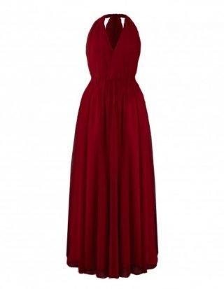 Czerwona sukienka na wesele bordowa